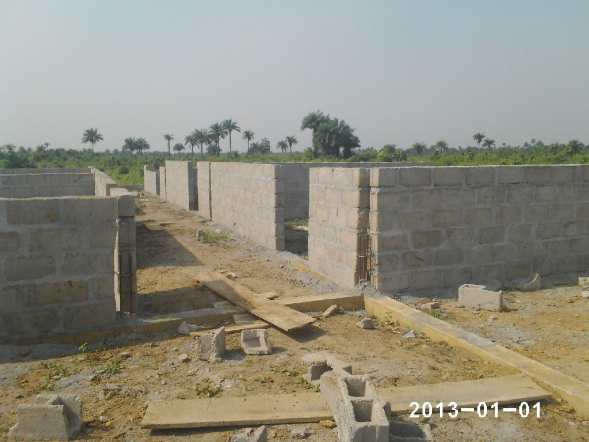 Bouwproject in Liberia