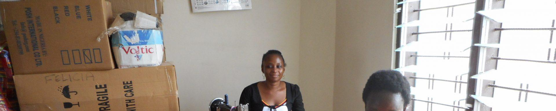 Ghanese dames naaien tassen