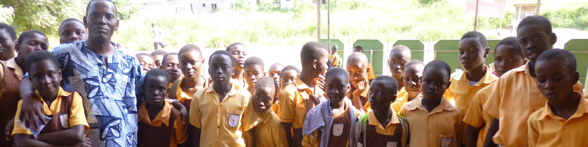 Leerlingen van computerschool in Ghana