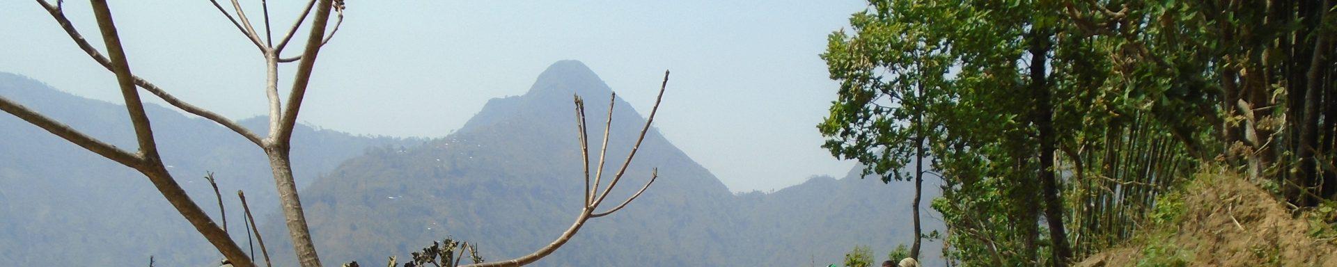 Dorre landbouwgrond in Nepal
