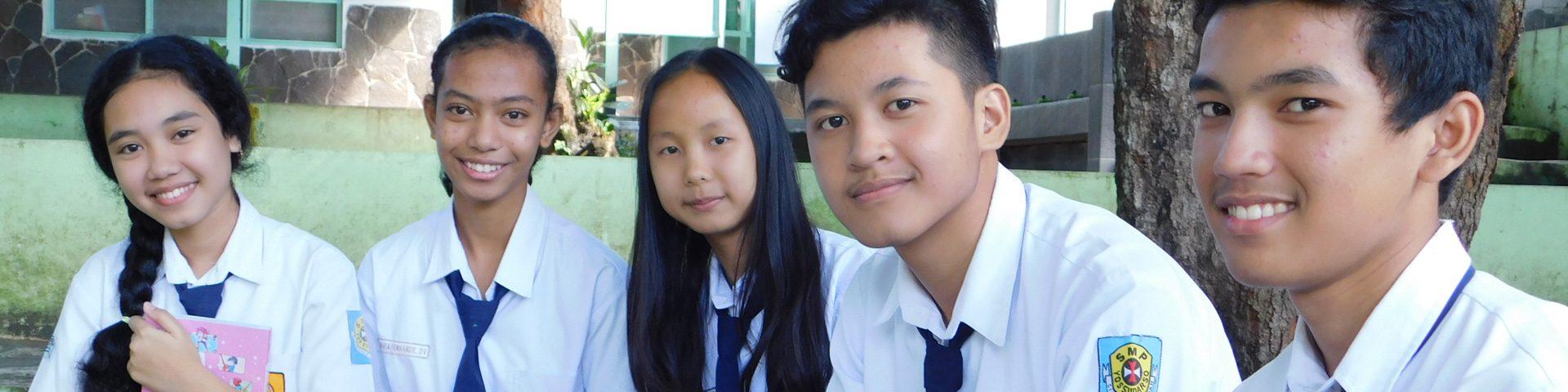 Scholieren middelbare school Indonesië