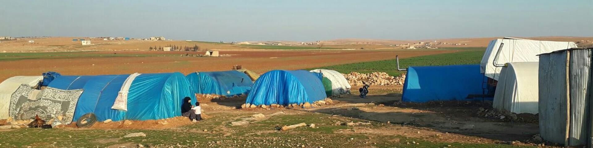 Vluchtelingenkamp voor Syrische vluchtelingen