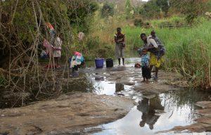 Open waterbron in Malawi