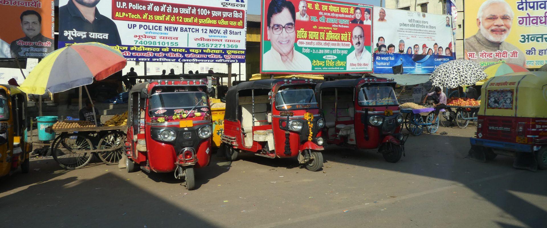 Tuktuks in India.