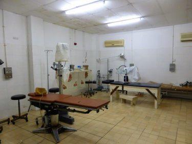 Een operatiekamer in Gambia.